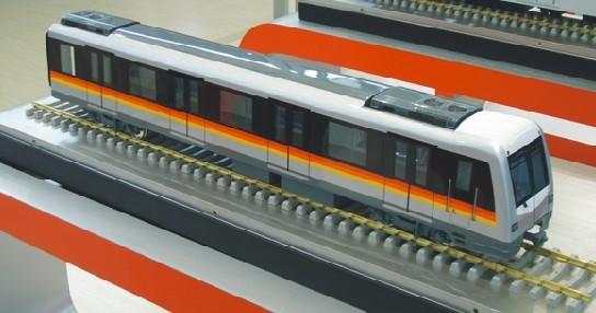 成轨机车模型